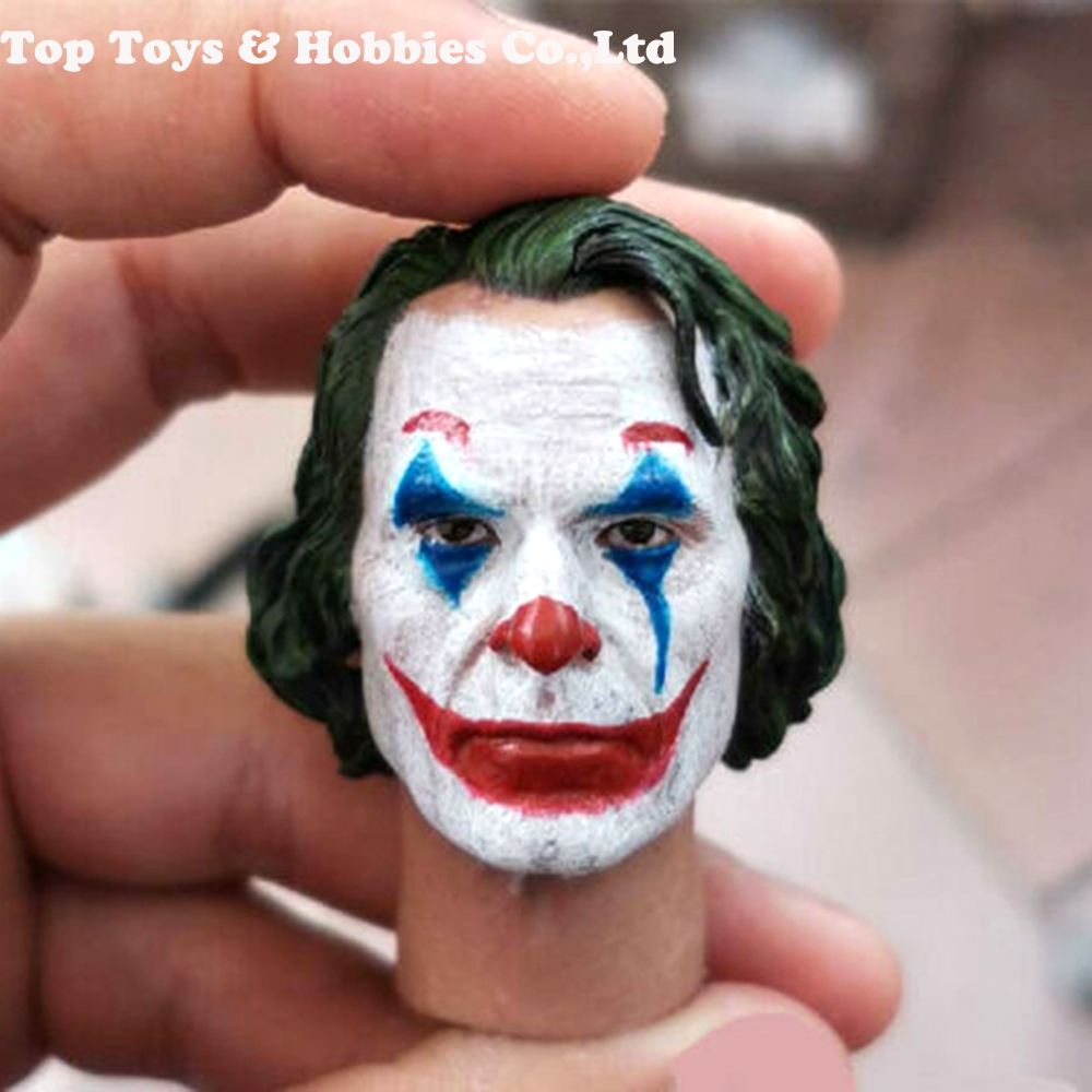 "For collection 1/6 Joker Joaquin Phoenix Clown Makeup Head Sculpt Carved F 12"" Figure Dolls Toy"