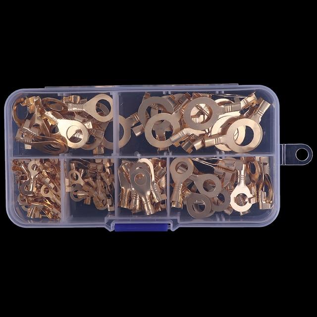 150 шт./компл. медный кольцевой кабель наконечники медные обжимные Кабельные соединители для глаз провода клеммы M3 M4 M5 M6 M8 M10 комплект