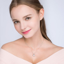 Fashion Heart-shape Pendant Necklace for Women Popular 925 Silver Necklace Summer Classic Holiday Gift classic heart pendant