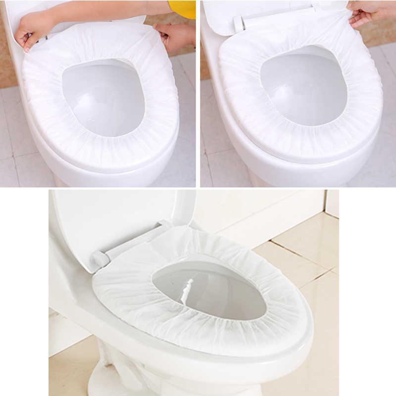 친환경 일회용 변기 커버 매트 개인 위생 보호 화장실 종이 패드 위생 욕실 액세서리