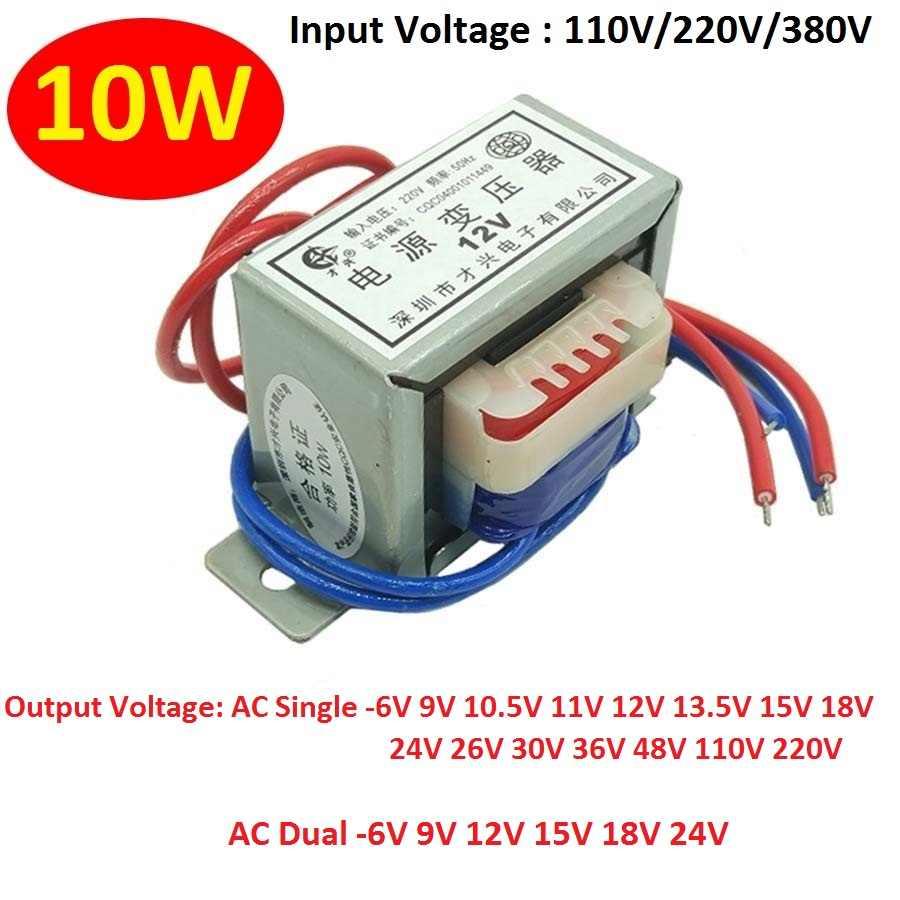 6V de entrada 9V 12V 15V 18VTransformer 220V Transformador de potencia 5 VA EI41 5 VA Transformador para el tablero del preamplificador,12V