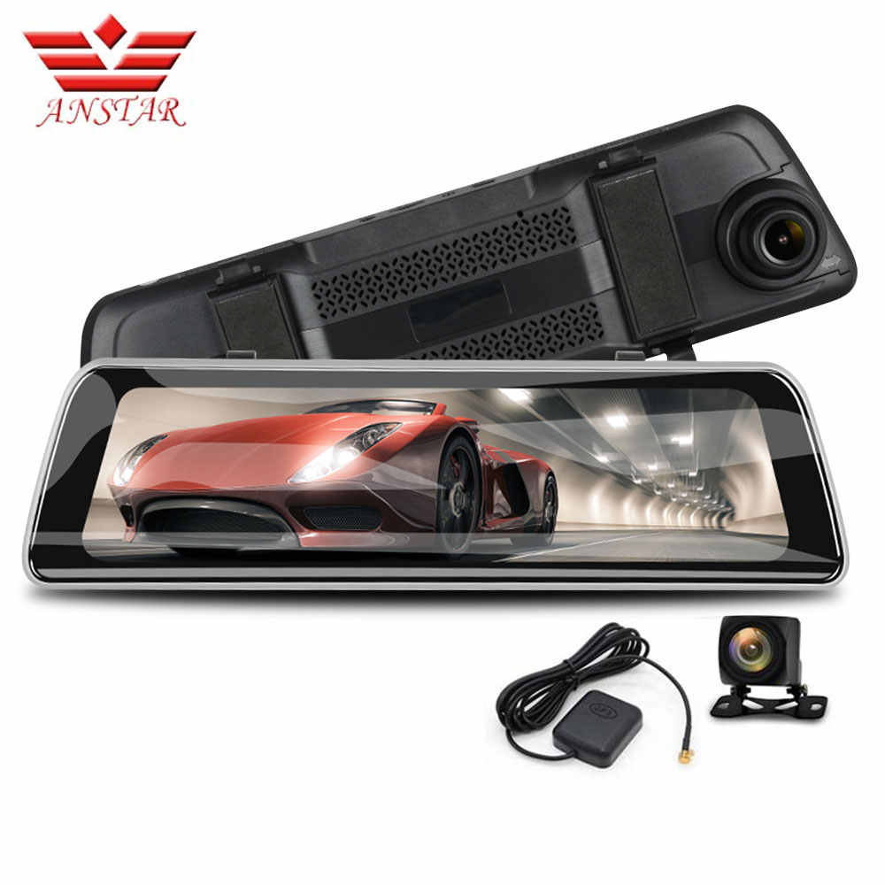 ANSTAR 10 inches Car DVRs Rear View Android Mirror HD 1080P Dash Cam Supper Night Vision Rearview Mirror Camera Car Recorder DVR