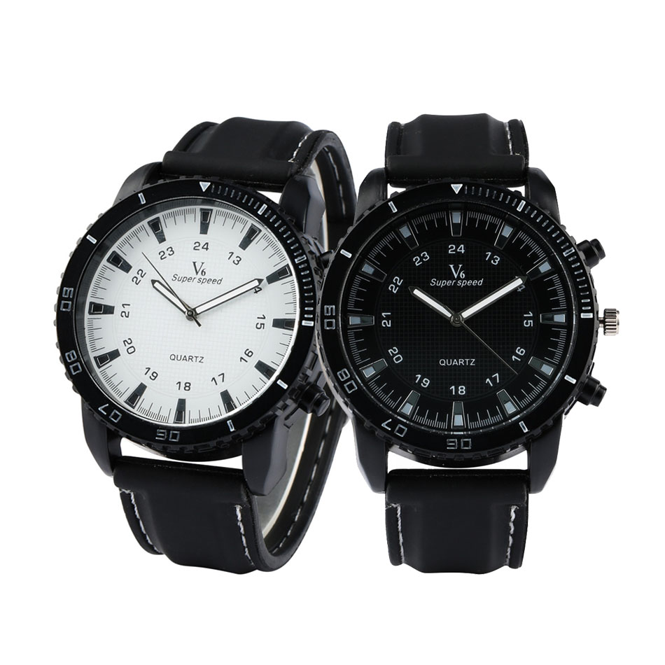 Luminous Hands Big Dial Couple Silicone Band Couple Watches Black/White Dial Sport Fashion Lovers Watches Quartz Movement