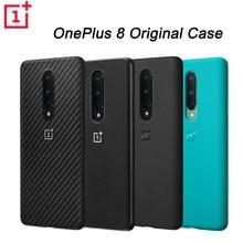 Orijinal resmi OnePlus 8 8pro koruyucu kılıf Karbon Karbon kumtaşı naylon tampon silikon kılıf arka kapak kabuk için oneplus 8