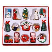 15Pcs Kerst Ornament Houten Sneeuwman Trein Pop Opknoping Hanger Nieuwe Jaar 2021 Kerstboom Decoraties Navidad