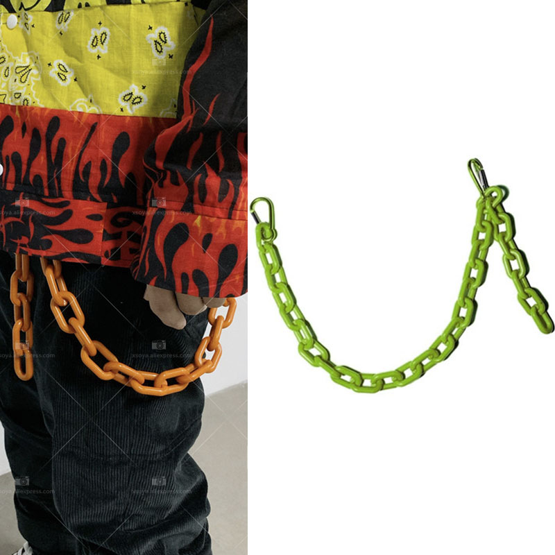 Fashion Punk Hip-hop Trendy Belt Waist Chain Multilayer Male Pants Chain Jeans Punk Silver Metal Big Ring Pants Chains YE63