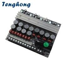 Tenghong MT5.1 karta do cyfrowego wzmacniacza mocy 100W * 2 5.1 kanał pojedyncze zasilania DC12 24V AMP do kina domowego wzmacniacz Audio pokładzie
