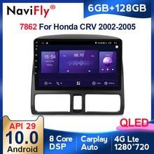 6G + 128G QLED 4G LTE WIFI CarPlay Android 10 Radio samochodowe dla Honda CRV 2 2001 2002 2003 2004 2005 2006 GPS nr 2din 2 din dvd