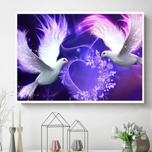 Couple Bird Paintings Satin Alin Aliexpress Te Indirimli Couple