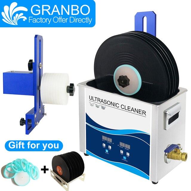 Granbo Vinyl Record Aluminum alloy Bracket Vinyl Ultrasonic Cleaner Digital With Degas 6.5L For 6RPM motor LP CD needle tracks