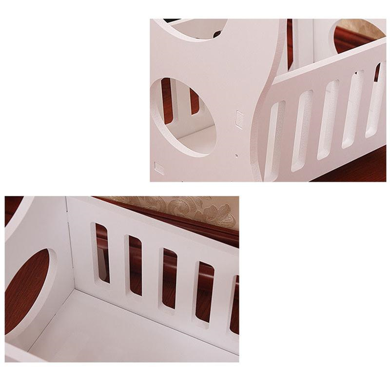 Mini Plastic Round Coffee Tea Table Home Living Room Storage Rack Bedside Table White