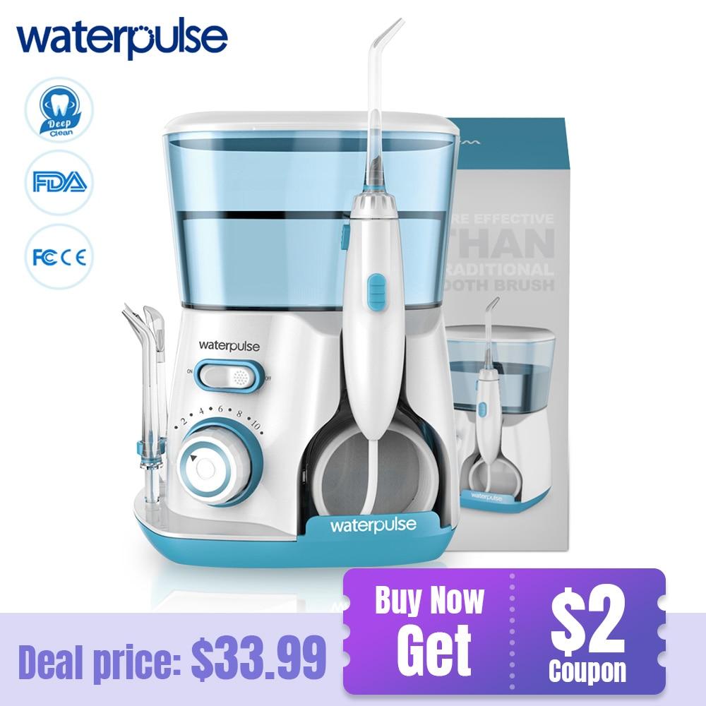 Waterpulse V300G Oral Irrigator 5pcs เคล็ดลับ Dental Water Flosser ไหมขัดฟัน 800ml Oral Hygiene ทันตกรรม Flosser Flossing v300-ใน เครื่องชะล้างช่องปาก จาก เครื่องใช้ในบ้าน บน AliExpress - 11.11_สิบเอ็ด สิบเอ็ดวันคนโสด 1