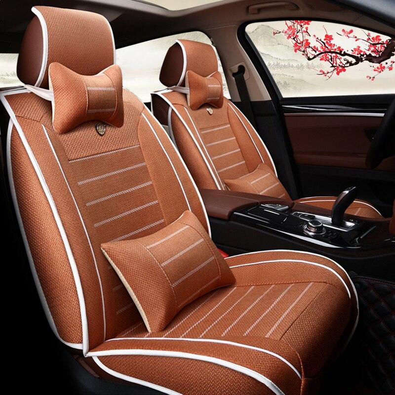 Housses de siège de voiture en cuir WLMWL pour Hyundai tous les modèles elantra accent azera lantra tucson iX25 i30 iX35 accessoires de voiture