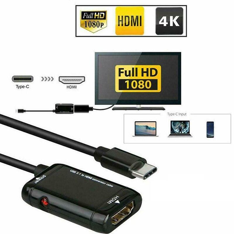 Typ C HDMI Konverter Kabel USB3.1 MHL Adapter für Android Telefon Tabletten DQ Drop-in Handy-Adapter aus Handys & Telekommunikation bei