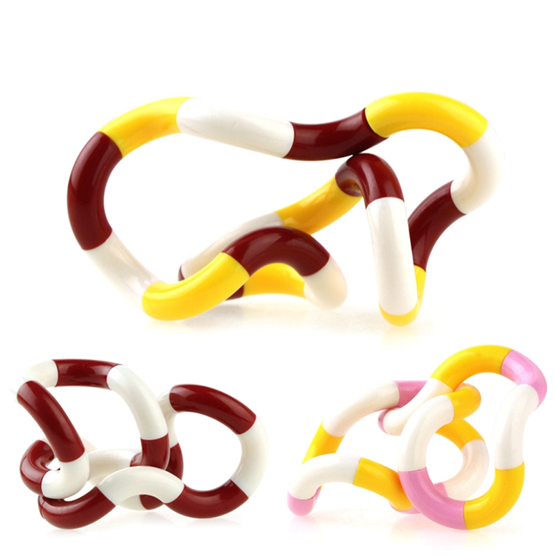 Twisted Ring Plastic Toy Anti Stress Adhd Autism Edc Sensory Decompression Children Kids Adults Hand Funny Toy - Random Color