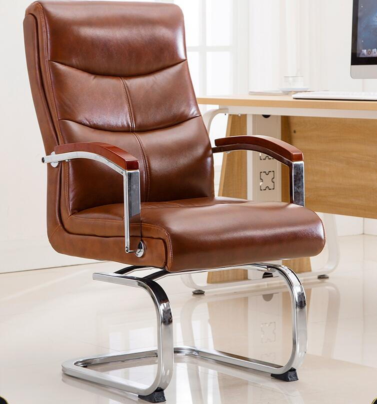 Bow chair computer chair home office chair boss chair leather conference chair student desk chair swivel chair|Office Chairs|   - title=