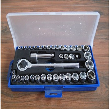 цена на 40pcs Set Of Sleeve Set Of Auto Repair Tools Set Of Socket Wrench Set Of Ratchet Wrench Set Of Socket Combination Tools