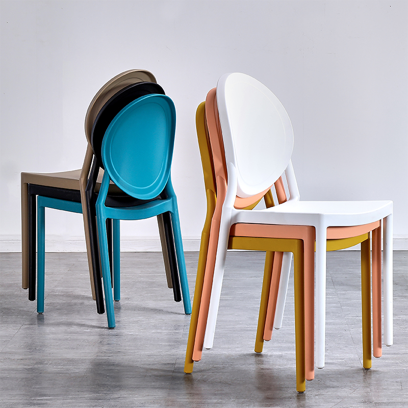 Nordic INS Plastic Chair Restaurant For Dining Chair Modern Restaurant Home Kitchen Living Room Meeting Plastic Dining Chair