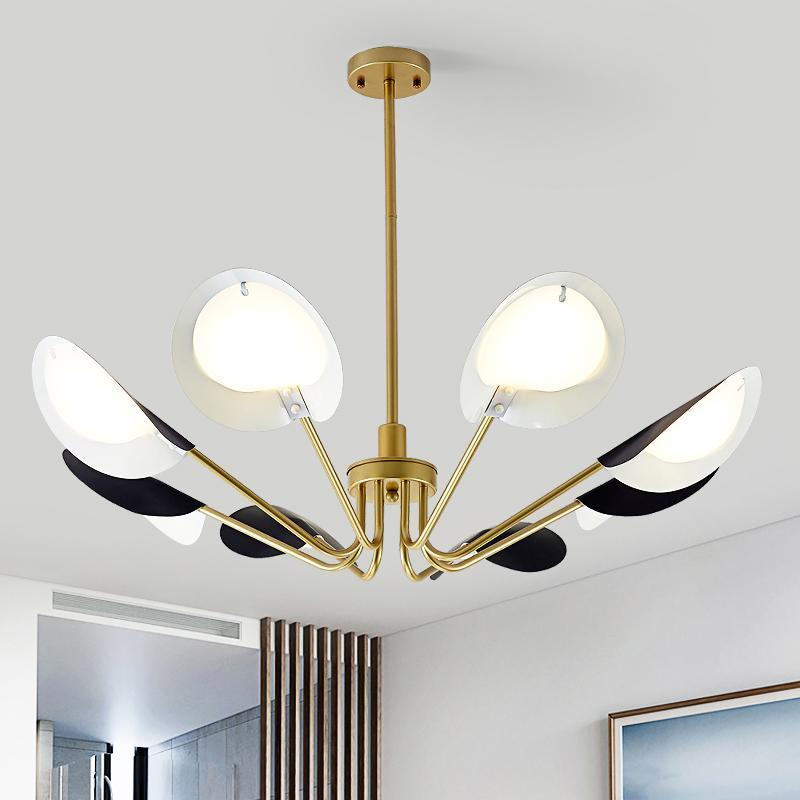 Modern Metal Pendant Lights Living Dining Room Bedside Bedroom Loft Black Hanging Lamp Kitchen Lighting Creative Pendant Lamp