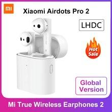 グローバルバージョンxiaomi airdotsプロ2空気2 mi真のワイヤレスイヤホン2 tws bluetooth 5.0 14hバッテリーインテリジェント制御lhdc