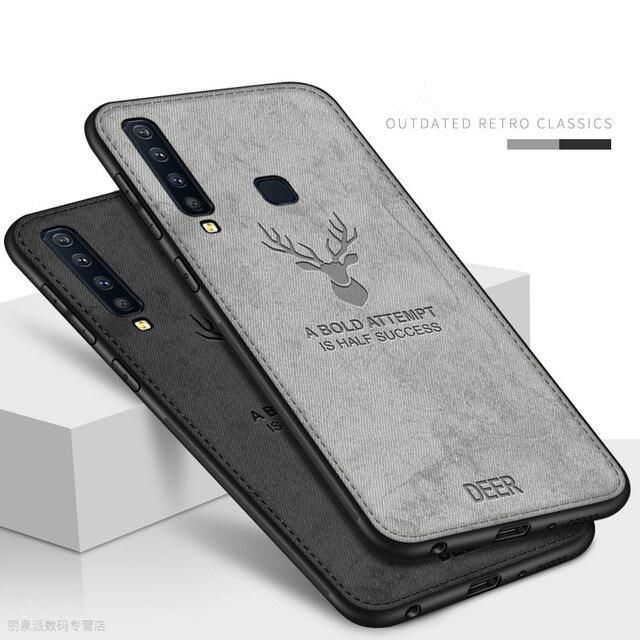 Cloth Fabric Deer Case For Samsung Galaxy A50 A40 A70 A20 A10 A30 Back Case For Samsung S8 S9 S10 Plus S10e S10 A7 2018 Capa 1