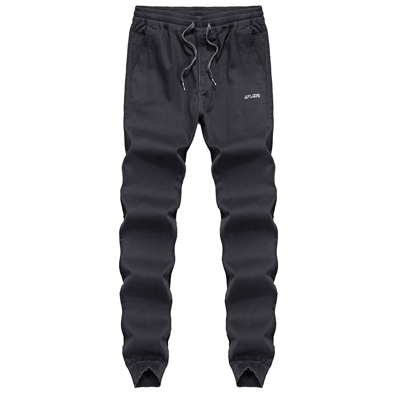 Wolf Warriors Athletic Pants MEN'S Casual Pants MEN'S Trousers Autumn Pure Cotton Straight-Cut Pants 1109