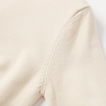 Autumn Winter Women Beaded Sweater 2019 O-Neck elegant sweater Jumper Top Loose Casual Warm Femme Sweater knitting bottom shirt 4