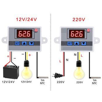 220V Digital Temperature Controller 10A LED Thermostat Thermoregulator Sensor Meter Regulator w88 12v 220v 10a digital led temperature controller thermostat control switch sensor 2019