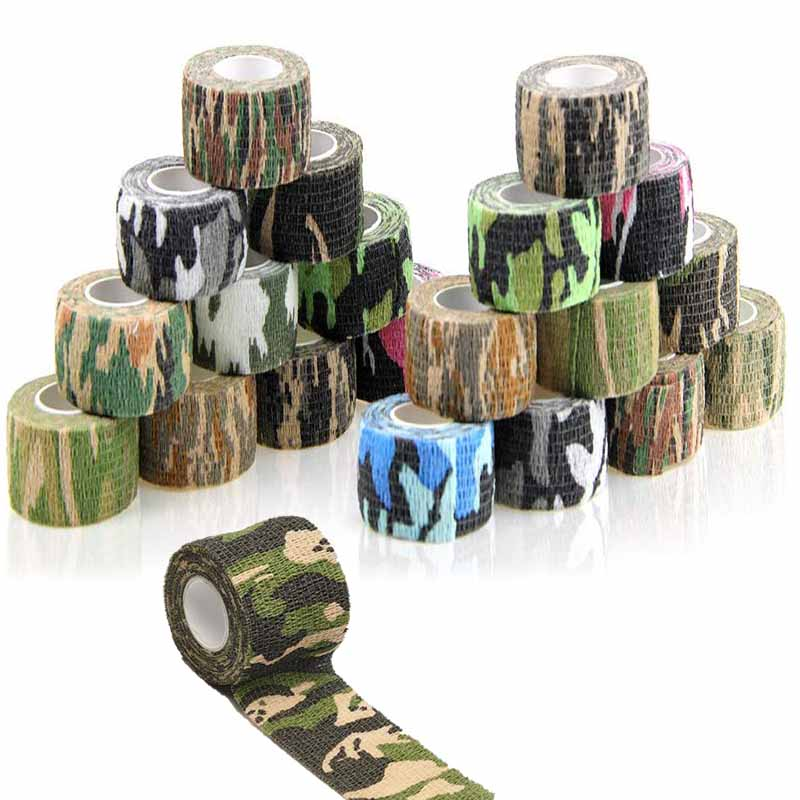 4.5M Camouflage Bandage Tape Elastic Wrap Tape Self Adhesive Sports Protector for Ankle Knee Finger Arm Hunt Stretch Bandage
