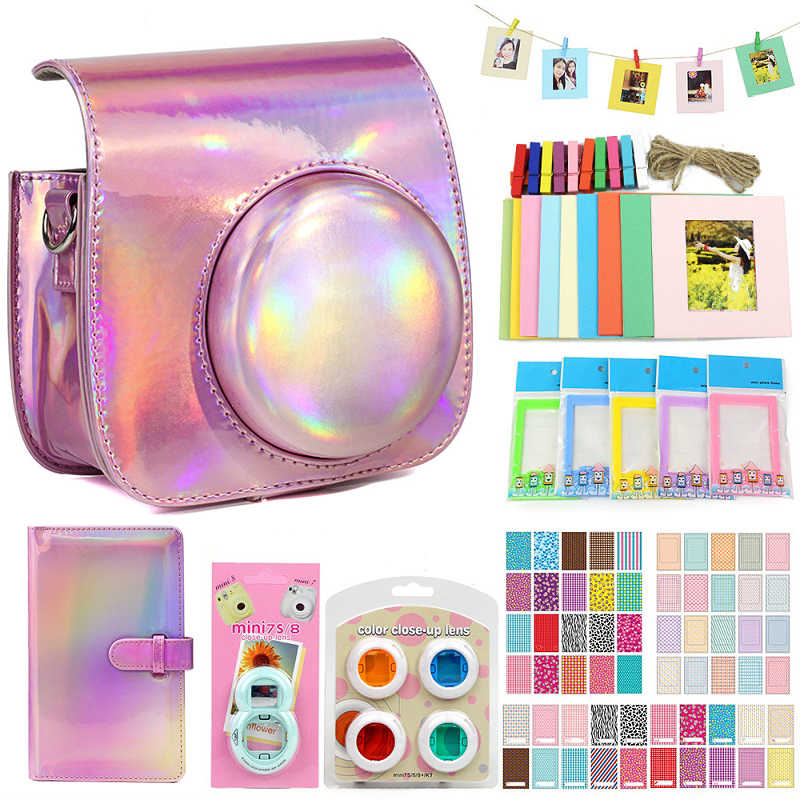 FUJIFILM Instax Mini 9 8 8 + Camera Aksesoris Bundel Kit Tali Bahu Tas Case Album Foto Frame Film Filter selfie Lensa Set