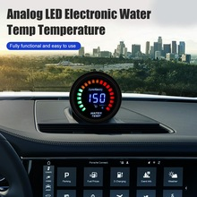 2 52mm water temp gauge blue red led car temperature digital meter tint lens universal gauge pod mount holder black Car Gauge 2 52mm Water Temp Oil Temp Oil Press Fuel Volts Gauge Air Fuel Ratio Boost Exhaust Temp Vehicle Meter Black Shell 12V