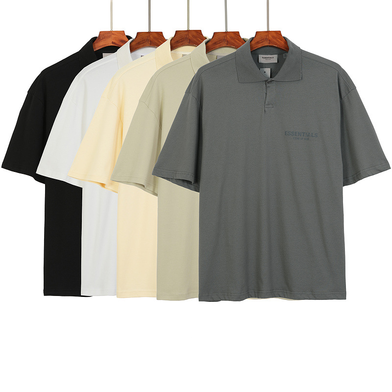 ESSENTIALS 100% 1:1 summer fashion retail brand reflective T-shirt 3M Polo shirt printing high-quality short-sleeve T-shirt 2021