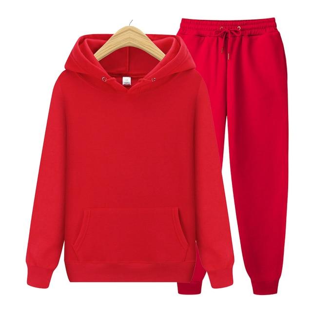 Men's Sets Hoodies+Pants Autumn Winter Hooded Sweatshirt Sweatpants Fashion Slim Fit Men Set Hoodie Pant Hip Hop Pullover Hoody 5