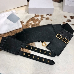 Waistband 12CM Women's Retro Fashion Leather D Belt with Jacket Skirt