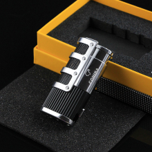 COHIBA Cigar Lighter 3 Torch Butane Gas Cigarette Travel Portable Refillable Accessories