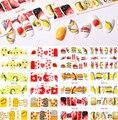 12 шт. красочных наклеек для ногтей с фруктовыми узорами, летние Стикеры для ногтей, декоративные Материалы для творчества