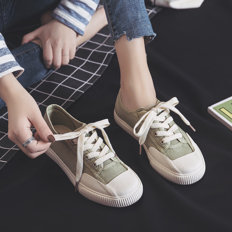Women Flats Canvas Sneakers Spring 2020 New Fashion SneakersTrendy Canvas Shoes Female Breathable Casual Colors Women's Shoes