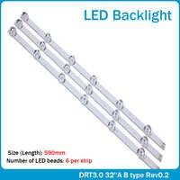 3x LED Backlight for LG innotek Drt 3.0 32_A/B 6916l-1974A 1975A 32MB25VQ lv320DUE 32LF5800 SUNG WEI 55VO E74739 59cm 6 Lamps