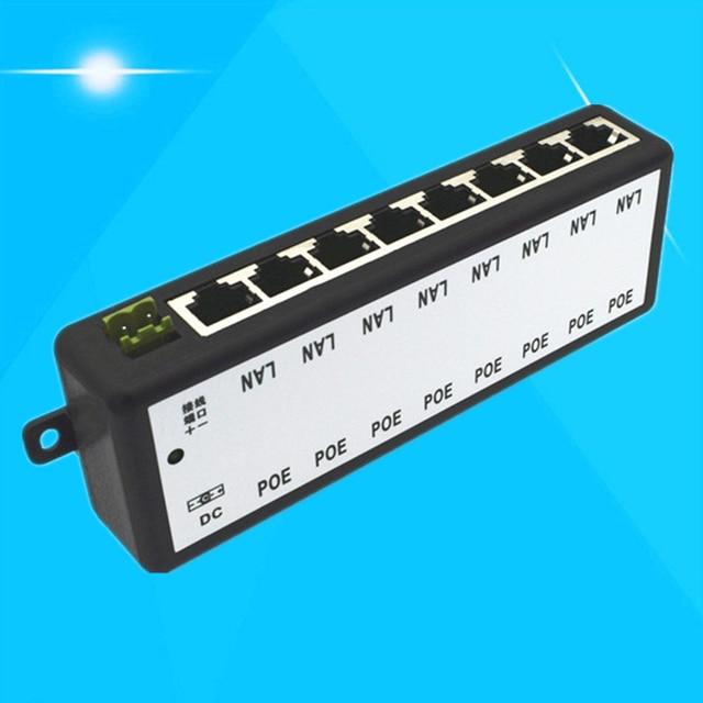 Faible boîte dalimentation électrique POE Module de réseau centralisé CCTV séparateur caméra 8 Ports Circuit pont 12-48V