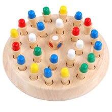 Новая деревянная палочка для запоминания шахматная игра детской