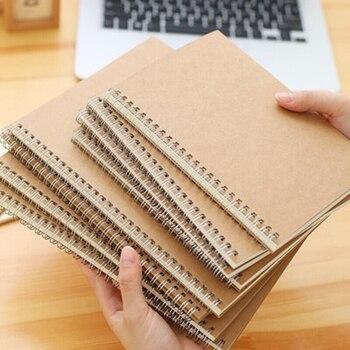 Nowy A5/B5 zeszyt kropkowany/puste/kwadrat/poziome/papier pakowy spiralny pierścień zeszyt cewki ręcznie zamów dwie paczki