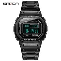 SANDA zegarek męskie zegarki cyfrowe zegar elektroniczny zegarki sportowe męskie LED inteligentny zegarek wodoodporny Fitness Shock męski zegarek w Zegarki cyfrowe od Zegarki na