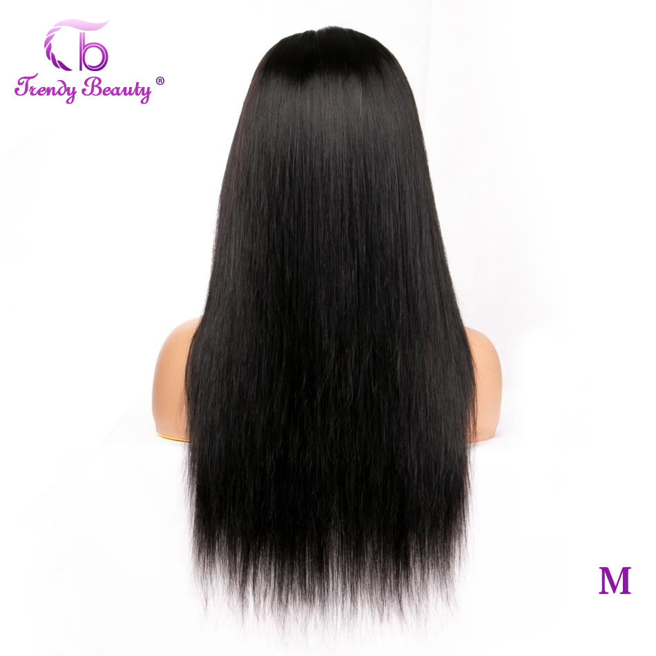 Trendy Beauty Hair Peruvian Straight Lace Front Wig Non-Remy Lace Frontal Wig 150% Density 13X4 Lace Front Human Hair Wigs
