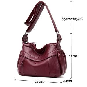 Image 4 - MOLIHUAKAI Soft Leather Women Messenger Bag Casual Womens Shoulder Crossbody bag Female Handbag Black Bolsa Feminina Girl Bags