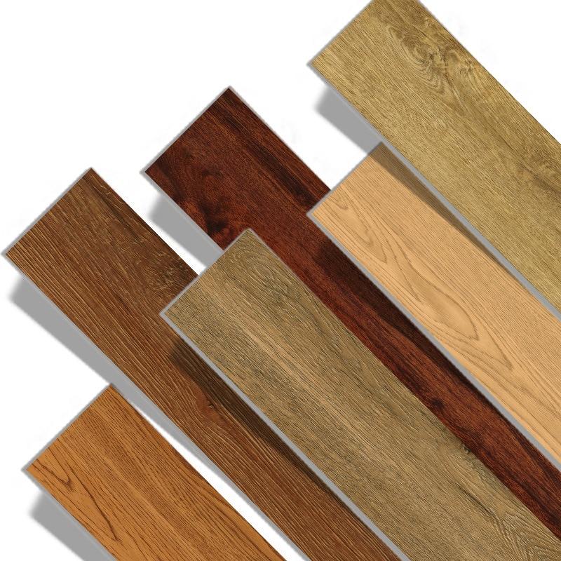 Beibehang Non-slip Self-adhesive Floor Leather Pvc Wood Grain Imitation Marble Pattern Brick Wear-resistant Household Floor