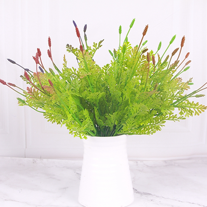 2Pcs/set Artificial Plastic Green Plants Flower  Asparagus Fern Grass Plant Flower Garden For Home Wedding Decoration thumbnail