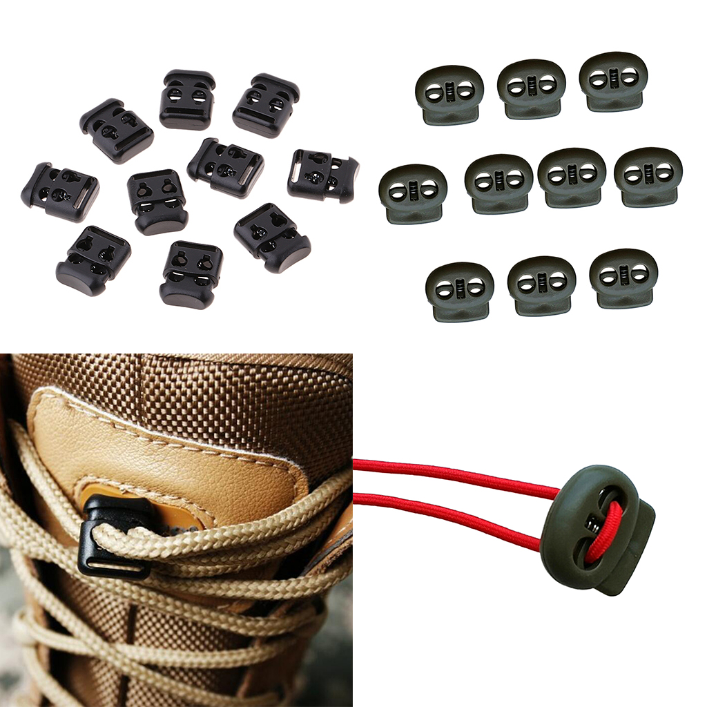 Cord Locks Stopper Stop Ends for Drawstrings Camping Hiking Shoelace Replacement