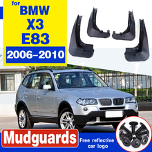 For 2006 - 2010 BMW X3 E83 4PCS Mud Flaps Splash Guards Fender Mudguard Kit Mud Flap Splash Guards Mudguard Car styling free shipping car splasher mudguard mud flaps splash guards covers fit for bmw x4 1set 4pcs