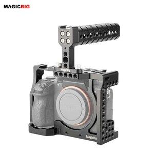 Image 1 - MAGICRIG DSLR caméra Cage avec poignée supérieure pour Sony A7RIII /A7RII /A7SII /A7M3 /A7II /A7III caméra à libération rapide Kit dextension
