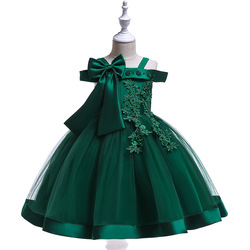 Princess Dress for Baby Girl Flower Elegant Girls Big Bow Dresses Winter Party Christmas Halloween Kids Spring Autumn Clothes
